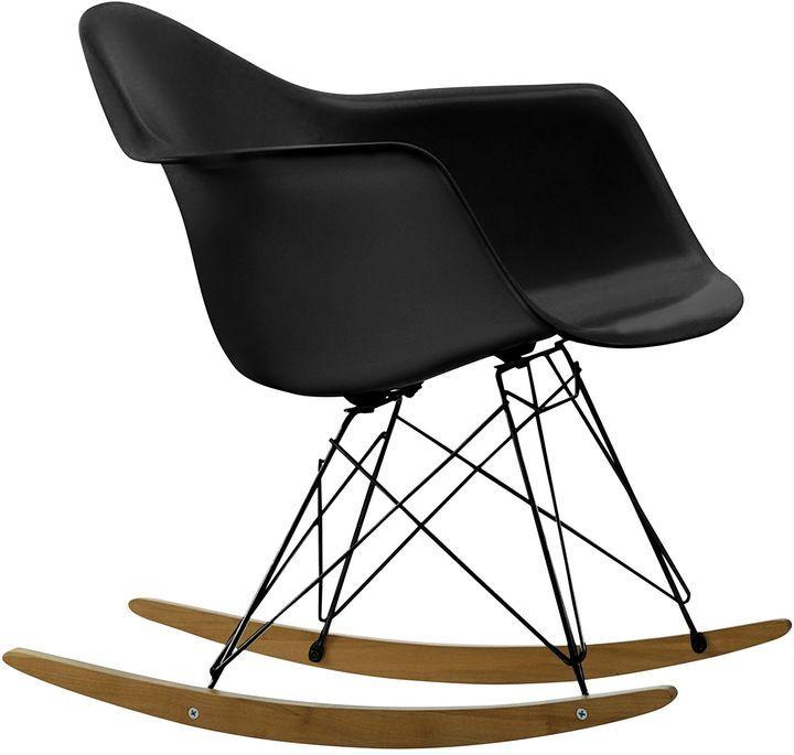 Replica Charles & Ray Eames Gliders and Rockers Replica Eames RAR Rocking Chair, Black