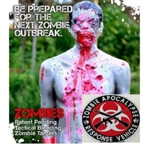 Tactical Bleeding Zombie Target - cuz I like to shoot things