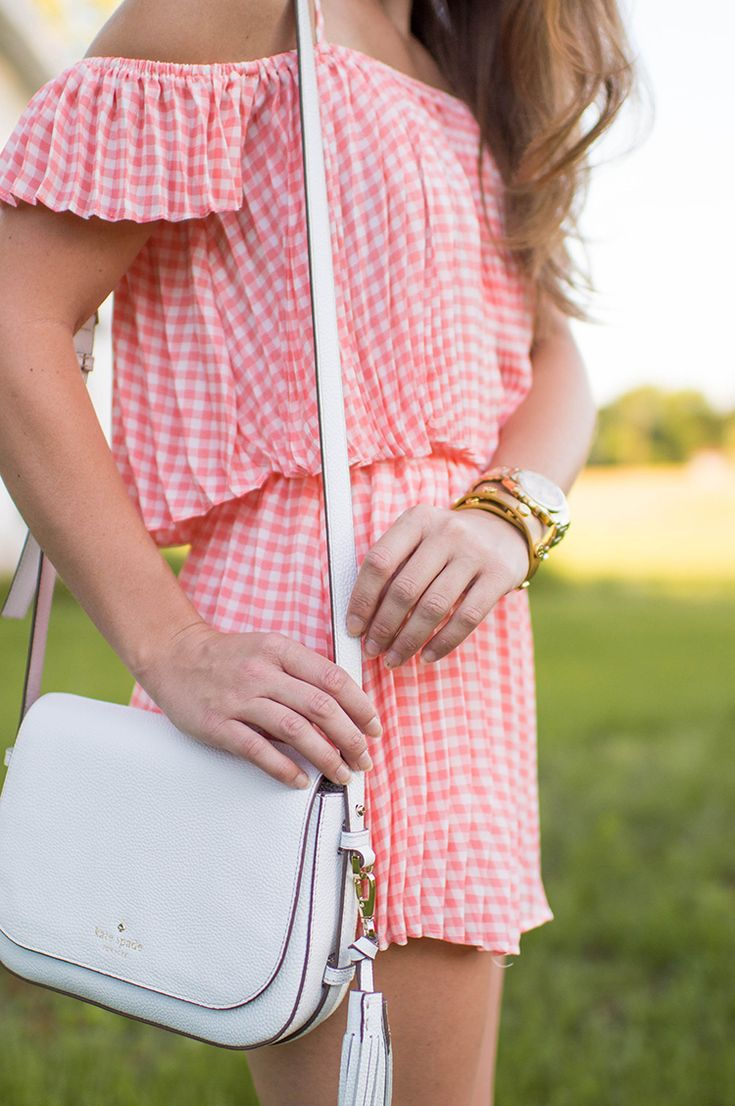 Coral Gingham Set By Lonestar Southern