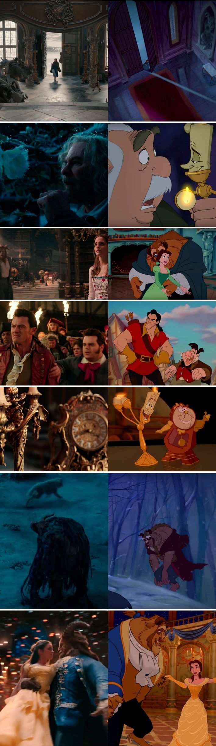 People don't realize how close it's sticking to the animated 'Beauty and the Beast' movie!