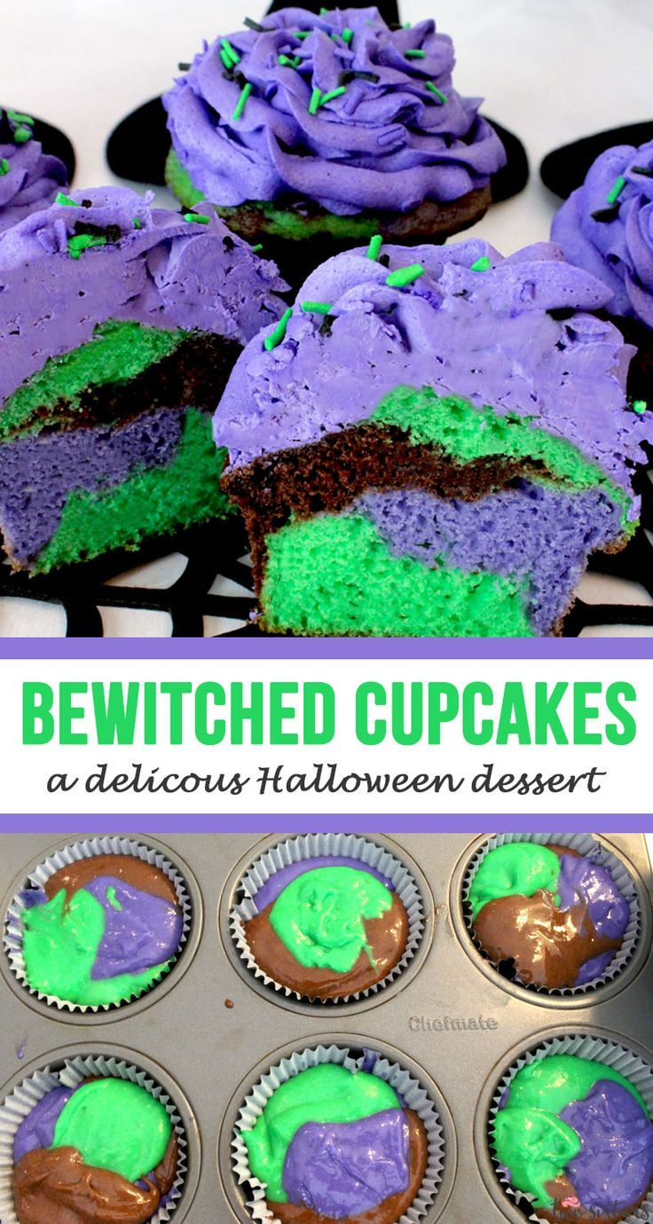 Bewitched Cupcakes – a delicious Halloween dessert! Your family is going to love…