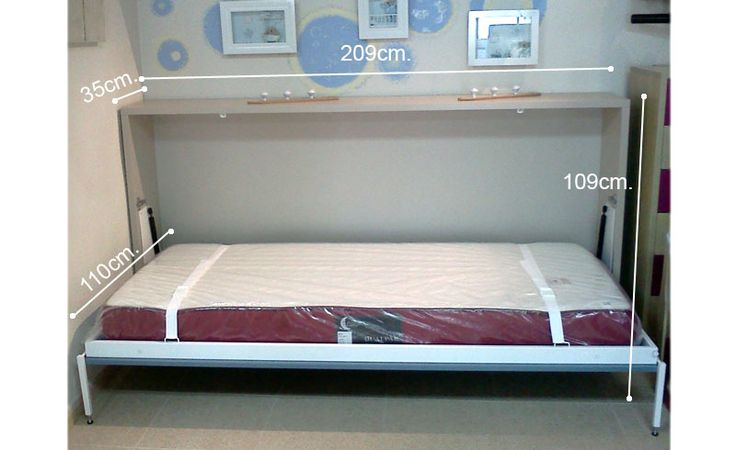 Cama abatible interiores pinterest - Construir cama abatible ...