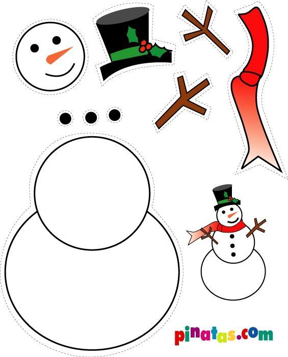 christmas snowman craft idea