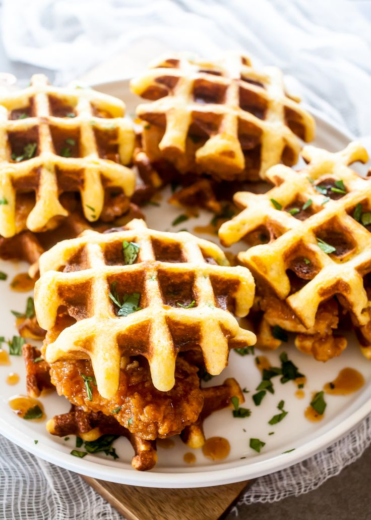 Chipotle Honey Chicken and Waffle Sliders. Yum!