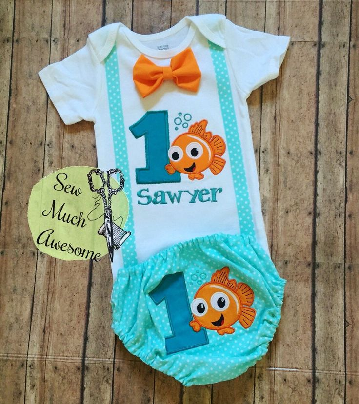 Finding Nemo Inspired Outfit - Birthday - Cake Smash