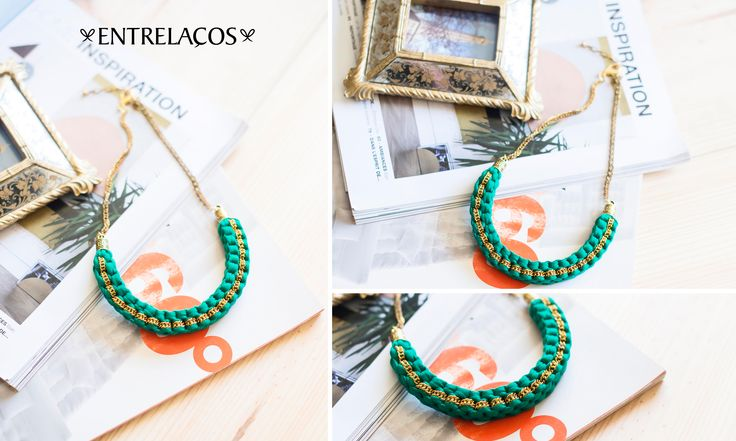 * Necklace Handmade * Woman  www.facebook.com/entrelacoscolaresartesanais  https://www.etsy.com/pt/shop/Entrelacos?ref=hdr_shop_menu