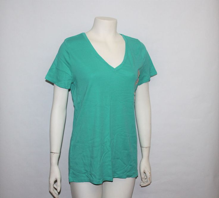 Womens Target Merona Winter Green Teal Tee Blouse Shirt Top Size XXL New w Tags #Merona #PoloShirt