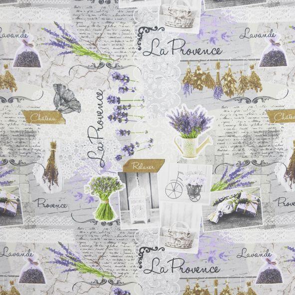 Dekorační látka La Provence na režné, metráž