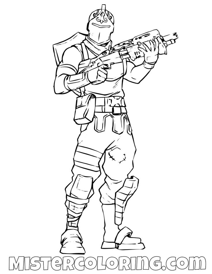 Free Black Knight Skin Fortnite Coloring Page For Kids