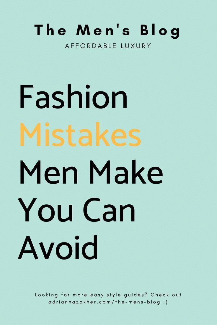 Cool Clothes For Men - Fashion Mistakes Men Make You Can Avoid... #CoolClothes #ForMen #MensFashionEdgy
