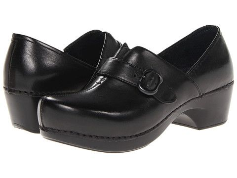 Dansko Tamara (Black Burnished Full Grain) Women's Clog Shoes