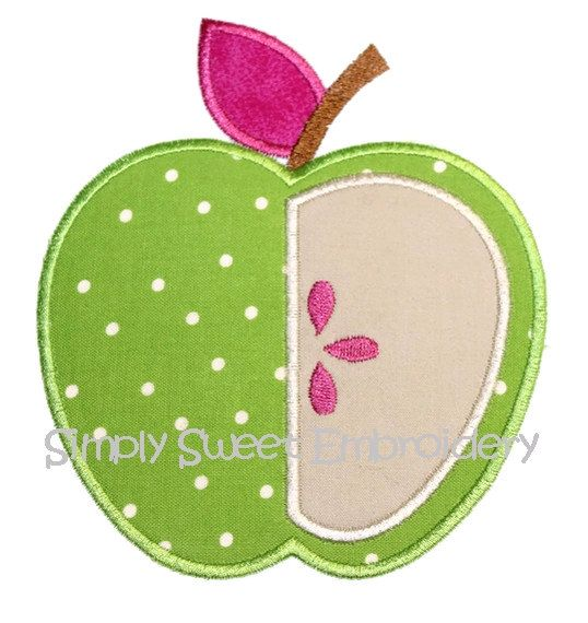 Apple 3 Machine Embroidery Applique Design by SimplySweetEmbroider