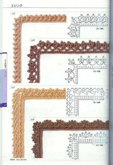 Edgings with diagrams, page #04
