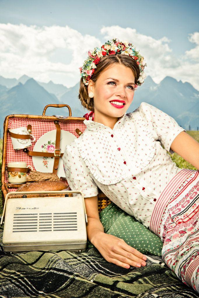 BLUSE RESI weiß - Lena Hoschek Dirndl Spring Summer 2014 - Lena Hoschek Tradition                                                                                                                                                     More
