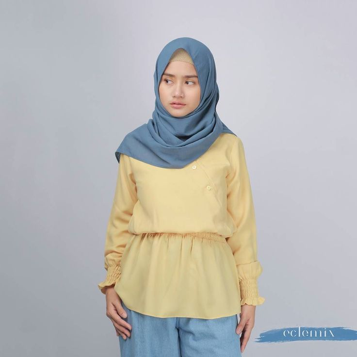 NEW ARRIVAL 2018: . What about starting this year with yellow? To make this year full of happiness positive energy and sunshine. . In Frame Viana Top by Eclemix. . Available exclusive at www.eclemix.com or reach our admin contact at:  line@: @eclemix  Wa : 081326004010 . #eclemix #fashion #hijab #fashionhijab  #beauty #ootd #bandung #localbrand #top