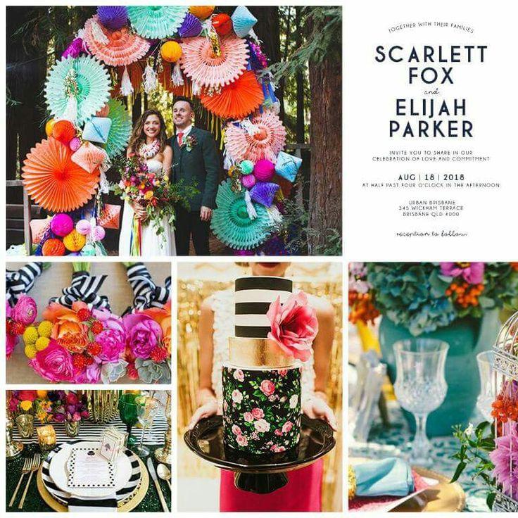 Ideas for your Mono Colour Pop Wedding