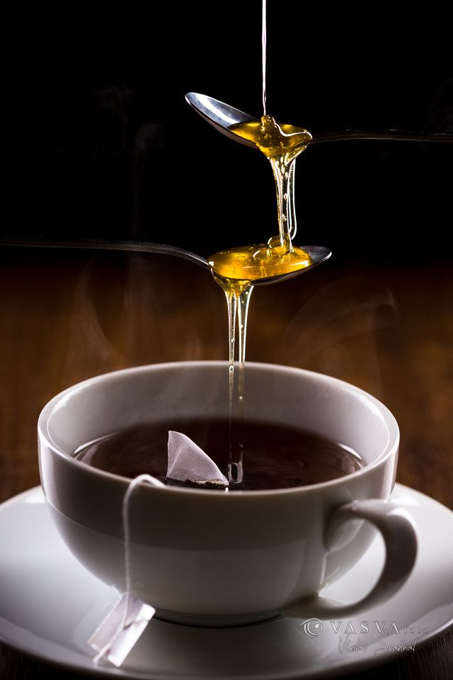 A Marble In A Cup Of Honey : Cup of tea vasvafoto foodphotography honey