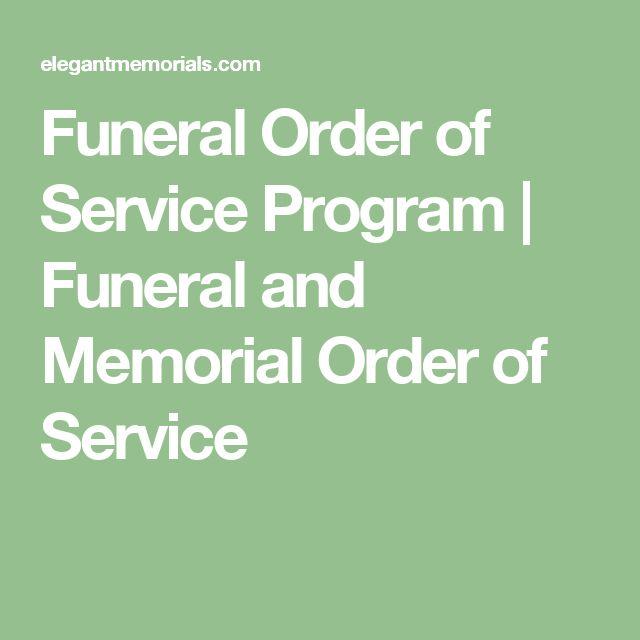 Best 10+ Memorial service program ideas on Pinterest Funeral - program for a funeral