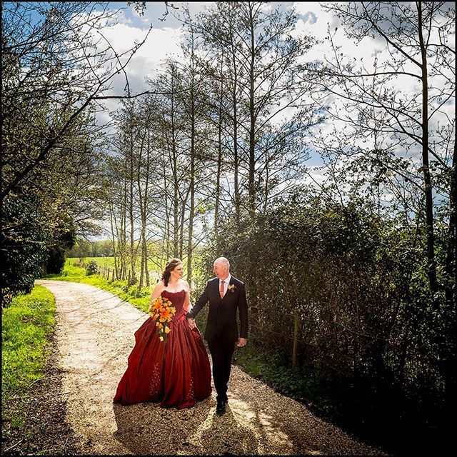 A post wedding ceremony  stroll at The Miilhouse Hotel, Swallowfield.