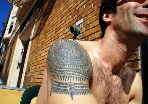 Spiritual Shoulder Tattoo