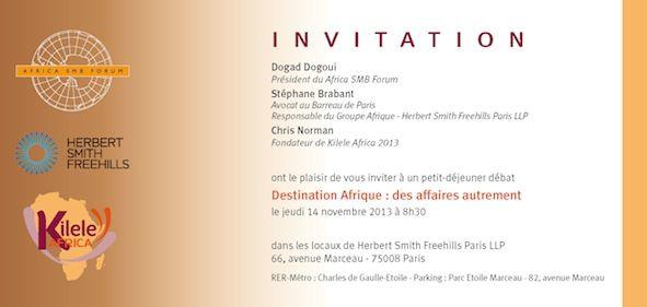 """Una colazione dibattito sul tema """"Destinazione Africa: fare affari in un altro modo"""" si è tenuto a Parigi il 14 novembre presso i locali di Herbert Smith Freehills Paris LLP.   L'affluenza importante ha dimostrato ancora una volta le possibilità che l'Africa può' portare all'economia e alle PMI."""