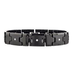 Men's Diamond Tungsten Carbide Bracelet (0.20 carats, H-I I2) (Black)