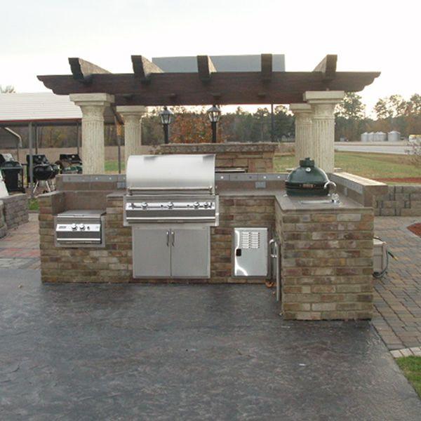 Prefab Outdoor Kitchen Island: L-Shaped Custom Outdoor Kitchen L-01