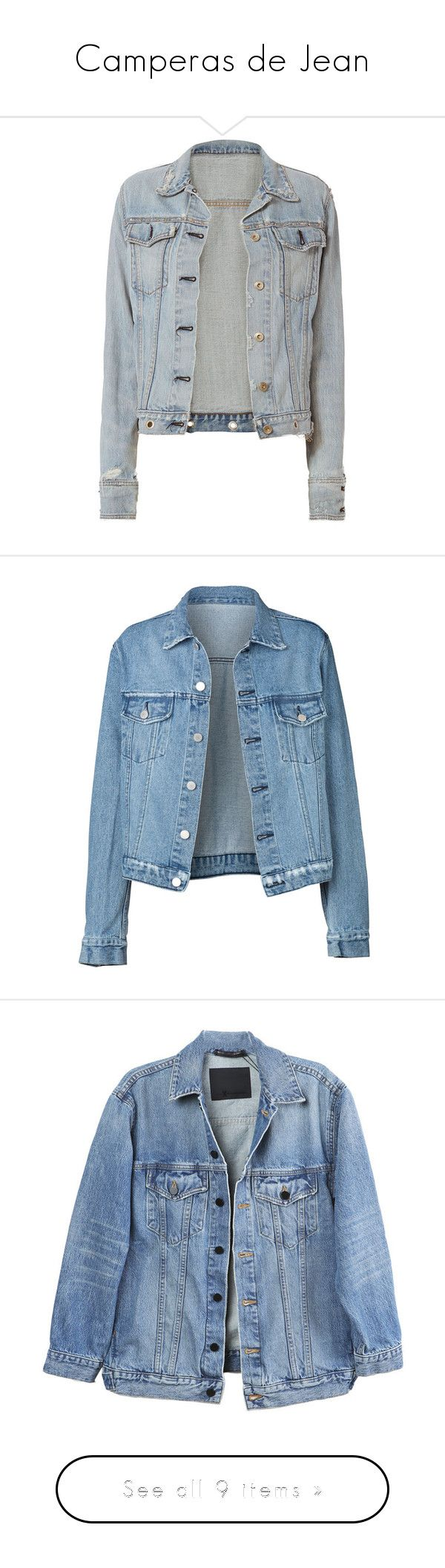 """Camperas de Jean"" by allofmeallofme ❤ liked on Polyvore featuring outerwear, jackets, coats & jackets, denim jacket, tops, denim, studded denim jackets, distressed denim jacket, rag bone jacket and studded jean jacket"