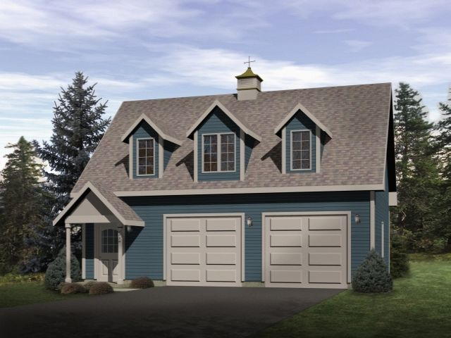 Efficiency apartment over two car garage makes great for Garage with living quarters one level