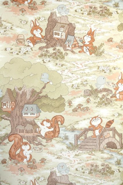 15 Best Images About Childrens Vintage Wallpaper On