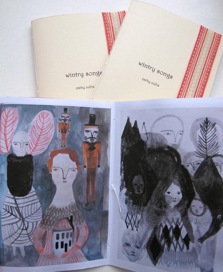 wintry songs - art zine - little artist book - folk art