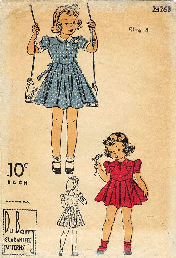 1088 best Girls Vintage Patterns images on Pinterest