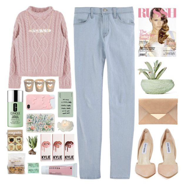 """""""Untitled #2102"""" by tacoxcat ❤ liked on Polyvore featuring J Brand, Steve Madden, Ross-Simons, Chen Chen & Kai Williams, CO, Clinique, Korres, Biedermann & Sons, Alöe and women's clothing"""
