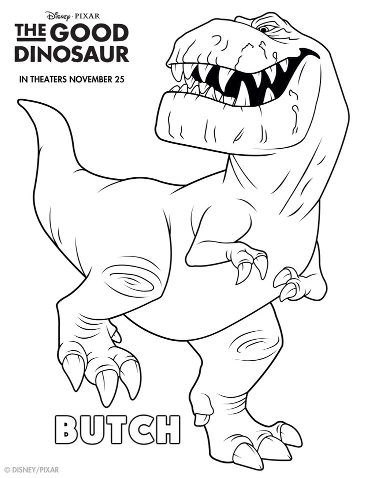 Take A Bite Out Of Life With This Good Dino Coloring Sheet Meet Butch In
