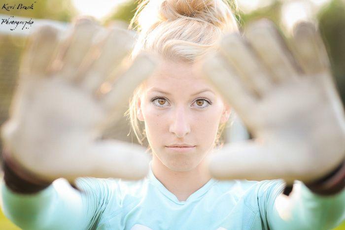 2015 High School Senior girl for posing picture ideas. High school soccer team goalie ideas. Soccer inspiration for seniors. Photos by Kari Bruck Photography.