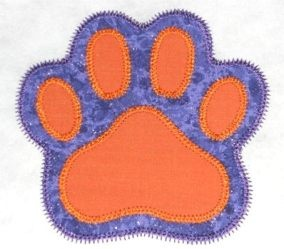 Free paw print double applique in 5 sizes