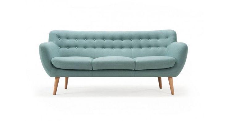 Anne,  3-seater sofa, Dina Sage,  Oak legs sofacompany.com