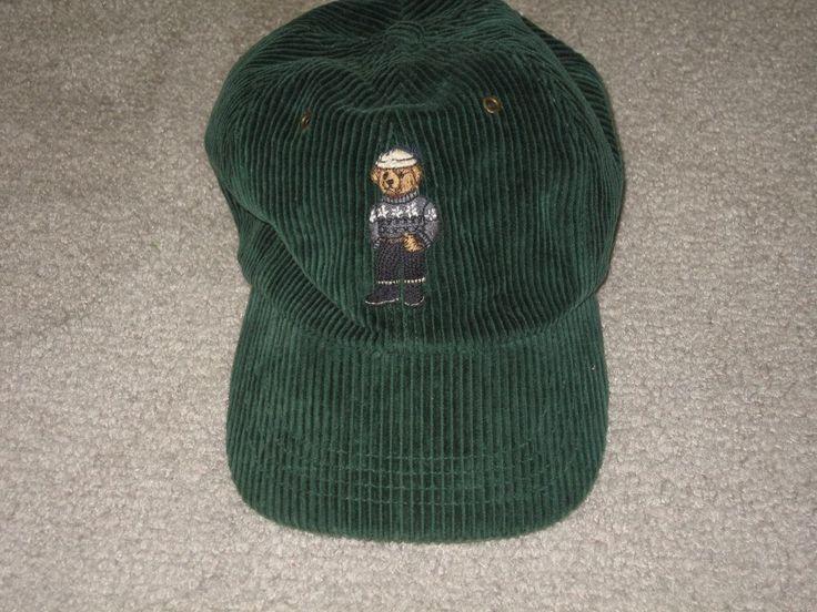 Vintage Polo By Ralph Lauren Teddy Bear Corduroy Hat Cap
