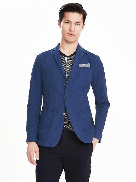 $200 Banana Republic Garment-Dyed Cotton Blazer