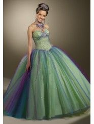 Tulle Strapless Sweetheart Beaded Bodice Quince Dress