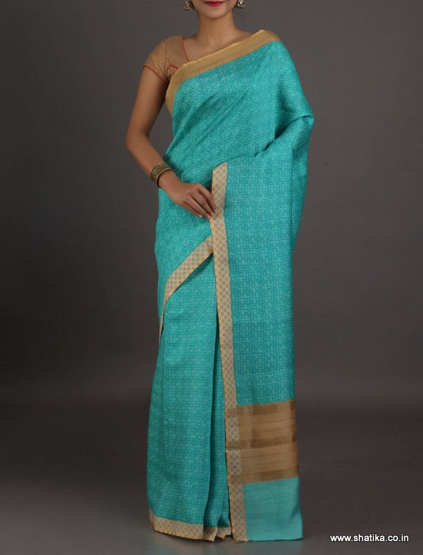 Rukmini Modern Uniform Print With Thin Border #Georgettesilksaree