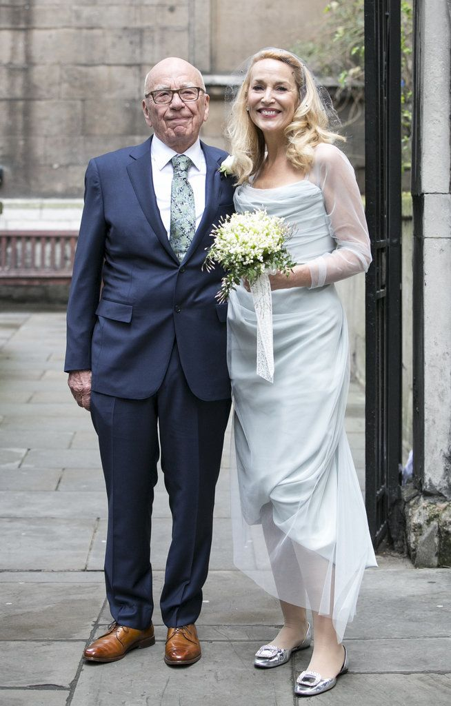 Jerry Hall's Vivienne Westwood Wedding Dress Might Become as Iconic as She Is