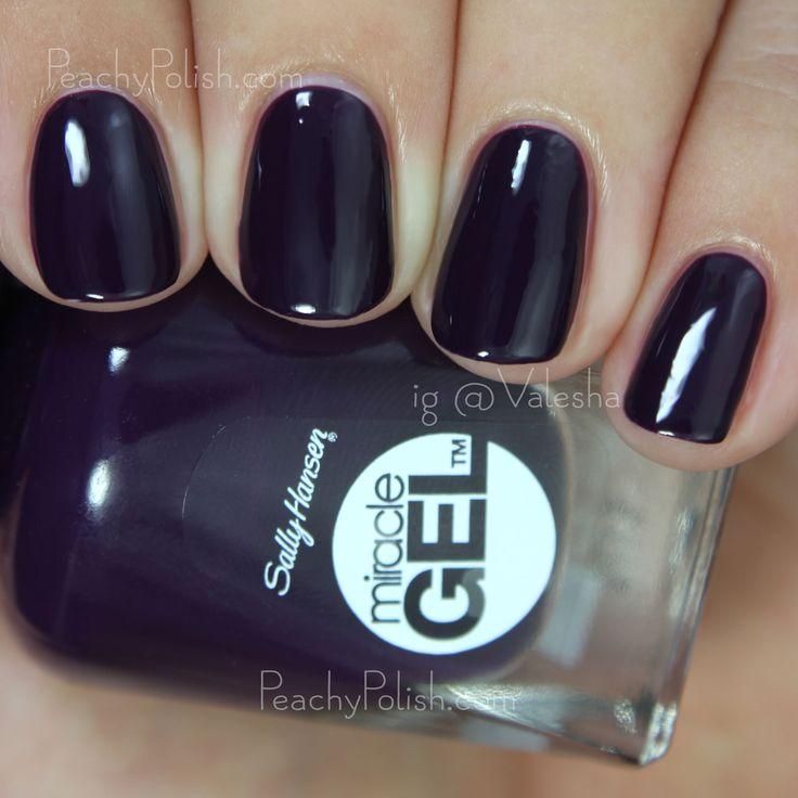 Sally Hansen Miracle Gel Boho-a-Go-Go | Boho Chic Collection | Peachy Polish #purple