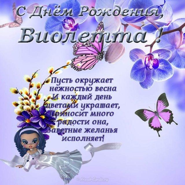 Виолетта поздравления с днем рождения шуточные