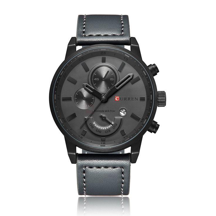 Currenn 8217 Mens Stylish Watch Decorative Sub-dial Date Display