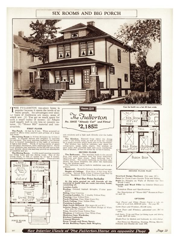 Sears Fullerton As Seen In The 1925 Catalog 1920s House