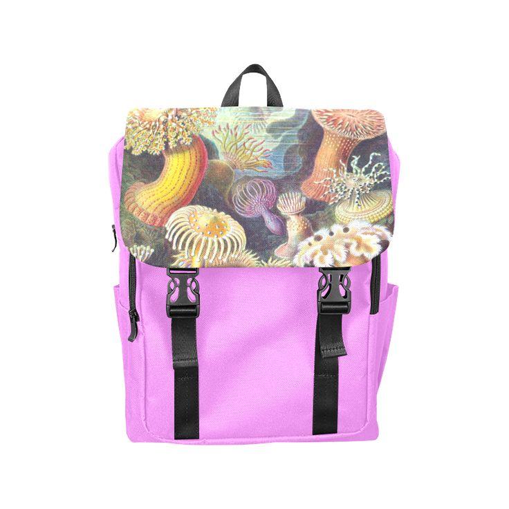 Ernst Haeckels vintage underwater sea urgents Casual Shoulders Backpack (Model…