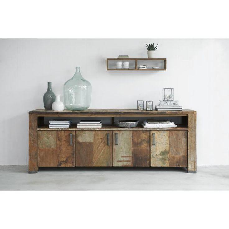 Soul Dressoir Hoog Bergkast gemaakt van verweerd, oud hout, bijzondere uitstraling en uniek! Verkrijgbaar bij #colijninterieur