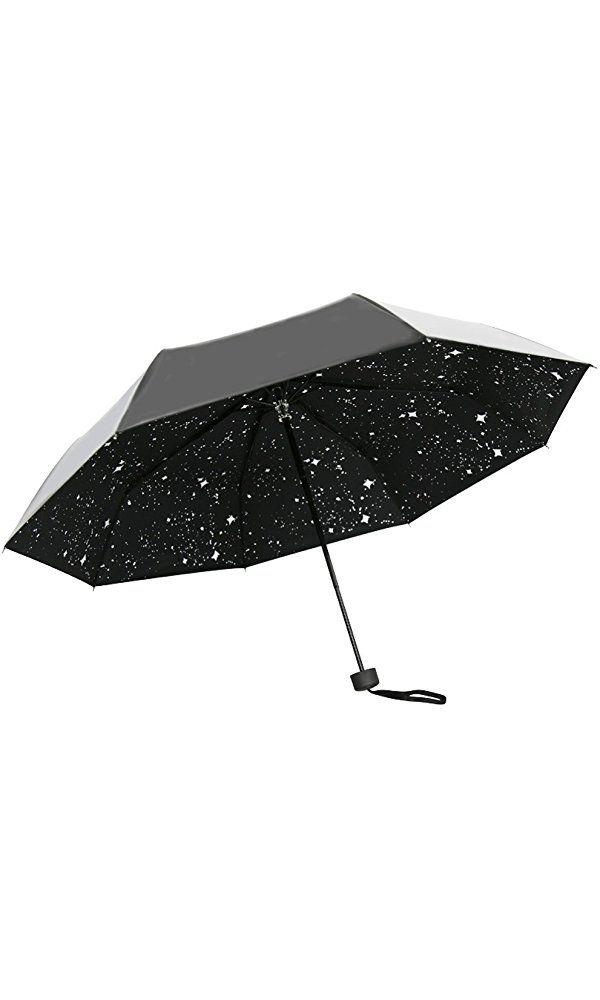 UNI Galaxy Stars Night UV Protection Rain Sun Parasol Compact Umbrella Best Price