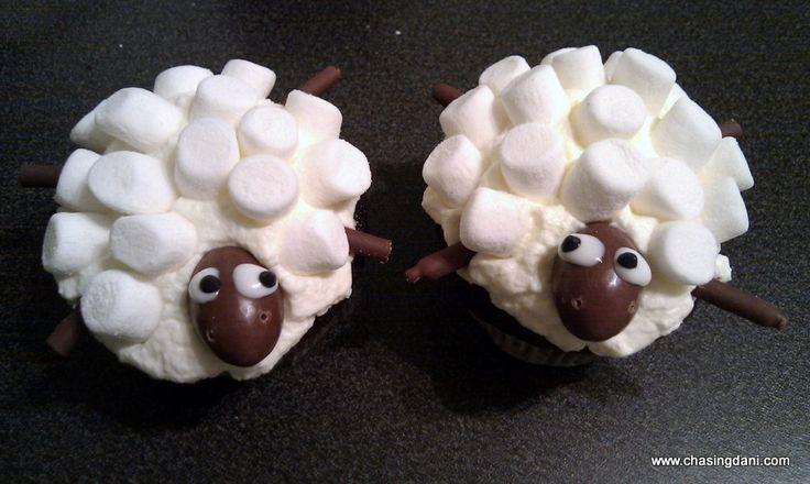 Rezept für Sheep Cupcakes - Für Kinder oder zum Geburtstag
